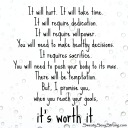 it will hurt it is worth it